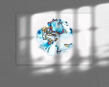 Abstractie van Ding #013 van Peter Baak