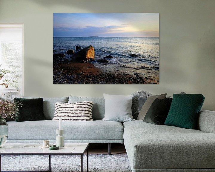 Beispiel: Ostseestein im Abendlicht von Ostsee Bilder
