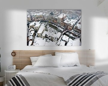 De Utrechtse Oudegracht in de sneeuw van Chris Heijmans