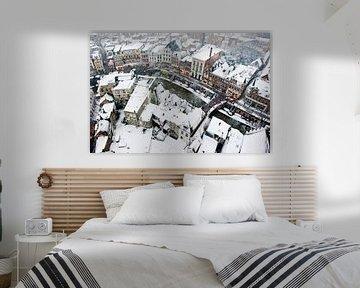 De Utrechtse Oudegracht in de sneeuw
