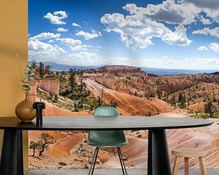 Sfeerimpressie behang: Bryce Canyon Panorama van Jeffrey Van Zandbeek