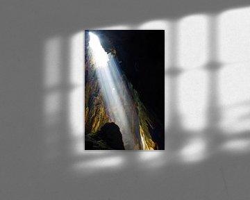 Lichtinval in een grot, Batu Caves sur Andrew Chang