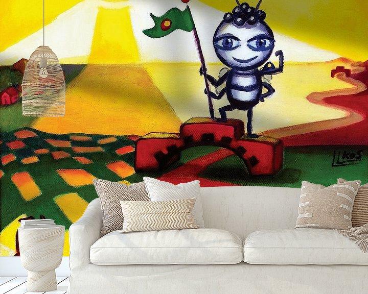 Sfeerimpressie behang: I can do it van Lorette Kos