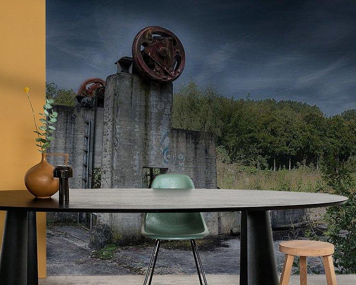 Sfeerimpressie behang: Gemaaltje in Waterloopbos van Jos Reimering