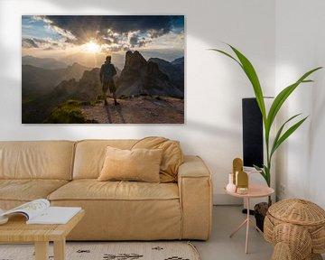 Zonsondergang in de Dolomieten sur Jonathan Vandevoorde