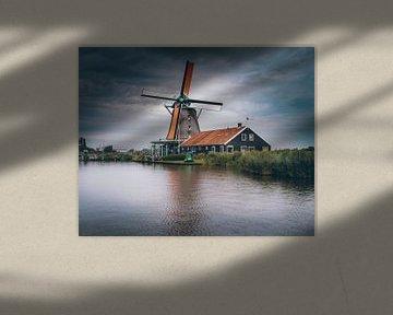 Moulin à vent aux Pays-Bas sur Hamperium Photography