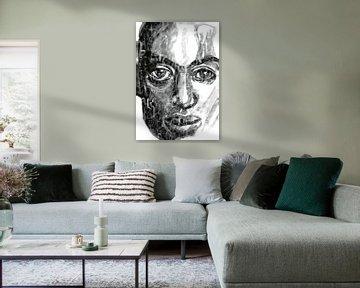 Porträt in schwarz und weiß von ART Eva Maria