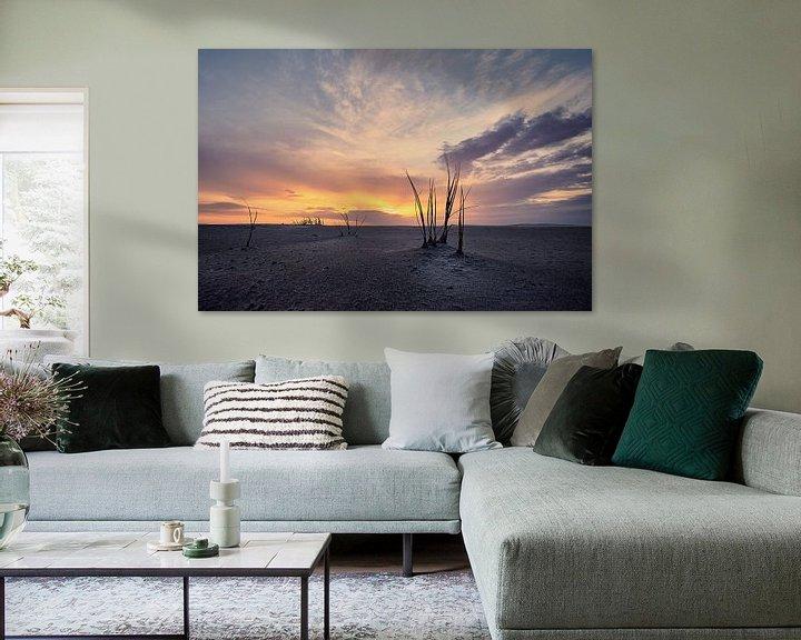 Sfeerimpressie: Helmgras op strand Schiermonnikoog van Edwin van Wijk