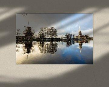 Molens aan de Kralingse Plas in Rotterdam van Michel van Kooten