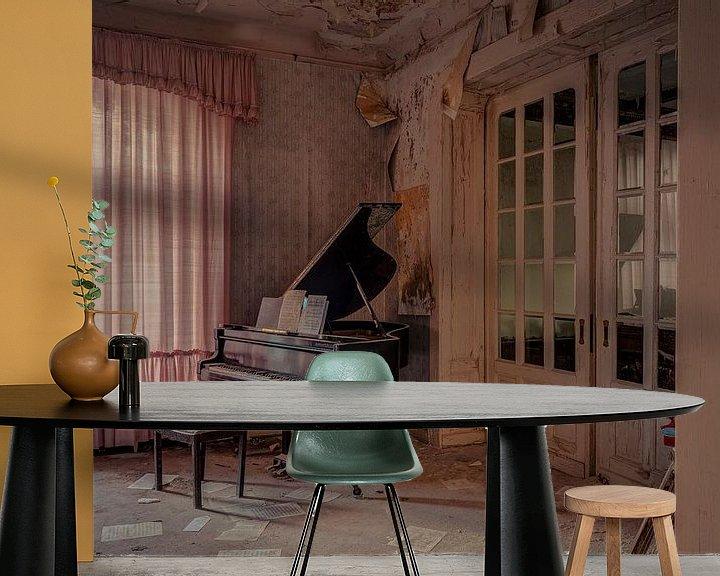 Beispiel fototapete: Anna's Piano  von dafne Op 't Eijnde