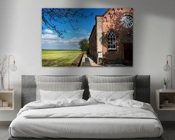 Kirche in Groninger Landschaft von Bo Scheeringa Photography