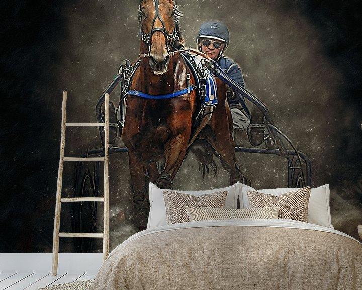 Beispiel fototapete: Kurzplatz Pferderennen Pferd und Reiter von Frank van der Leer