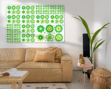 Blumencollage-Mädchenzimmer Dekoration von Marion Tenbergen