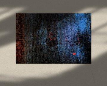 Muur van de luchtfabriek (blauw/zwart). van Marian Klerx