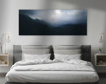 Dark clouds panorama