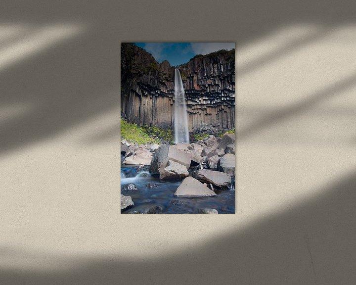 Beispiel: Svartifoss waterval IJsland von Menno Schaefer