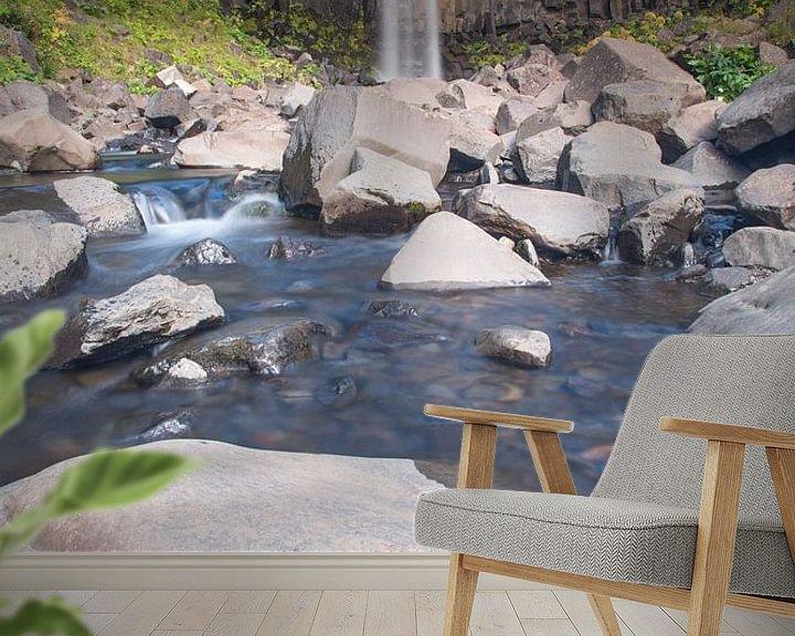 Beispiel fototapete: Svartifoss waterval IJsland von Menno Schaefer