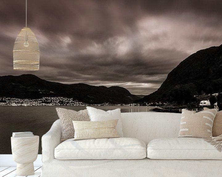Sfeerimpressie behang: Evening view van Jip van Bodegom