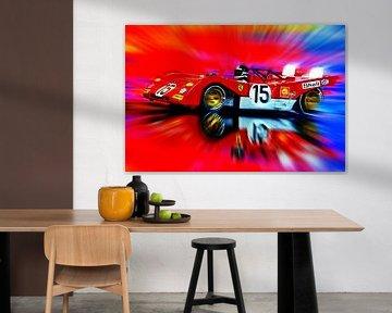 Jacky Ickx and Clay Regazzoni's Ferrari 312PB von Jean-Louis Glineur alias DeVerviers