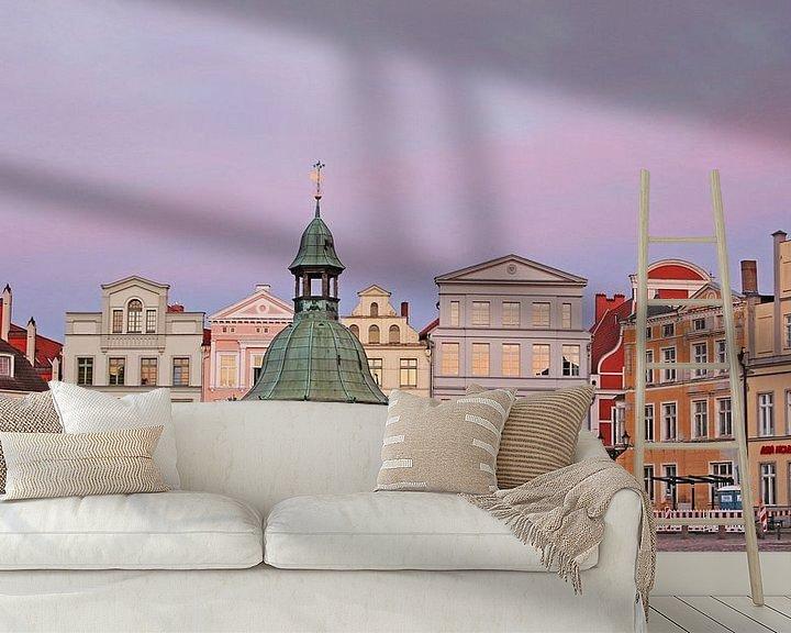 Beispiel fototapete: Altstadt Wismar von Die Farbenfluesterin