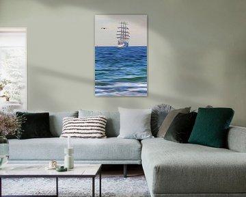 Segelschiff von Die Farbenfluesterin