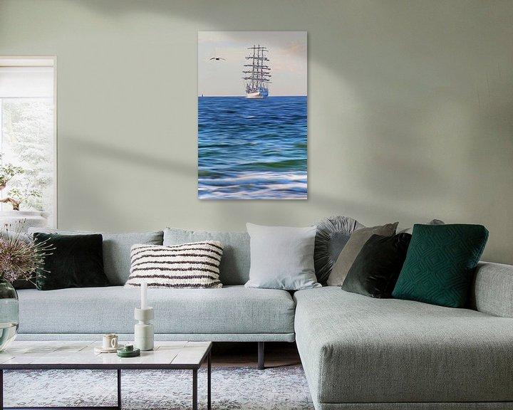 Beispiel: Segelschiff von Die Farbenfluesterin