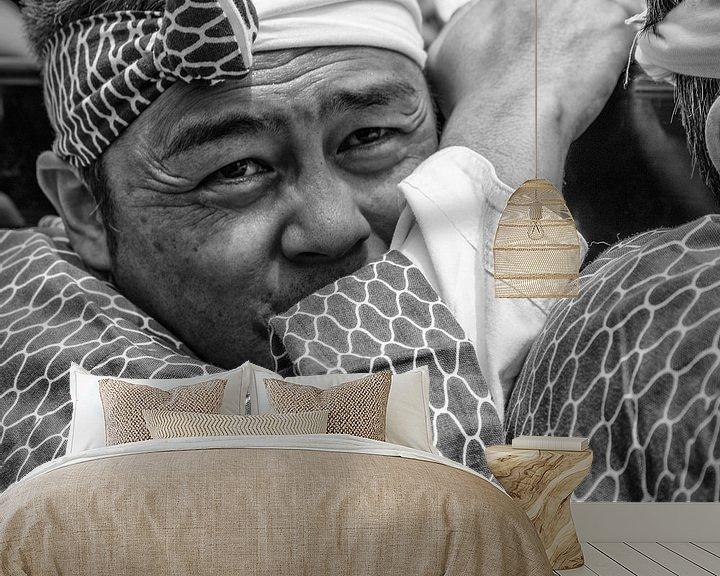 Beispiel fototapete: Porträt traditionellen Mann aus Japan von Loek van de Loo