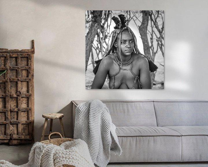 Beispiel: Porträt einer Himba-Frau aus Namibia von Loek van de Loo