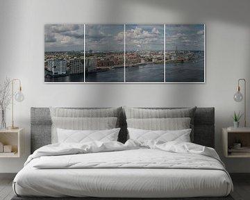Panorama  over Het IJ Amsterdam von Foto Amsterdam / Peter Bartelings