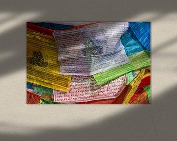 Gebetsfahnen in Tibet von Erwin Blekkenhorst