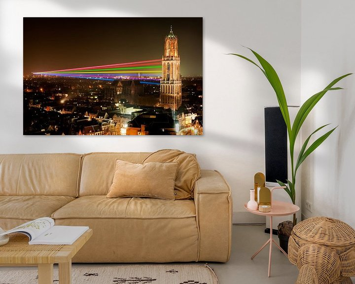 Impression: Sol Lumen - Laser Kunstwerk von Uithof zum Dom Tower in Utrecht sur Chris Heijmans