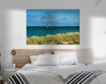 Baltic Sea coast with pier in Graal Mueritz van Rico Ködder