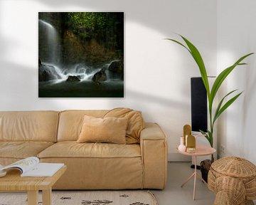 Beroemde  waterval in Nice Frankrijk