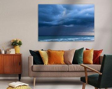 Onweersbui voor kustTexel van Waterpieper Fotografie