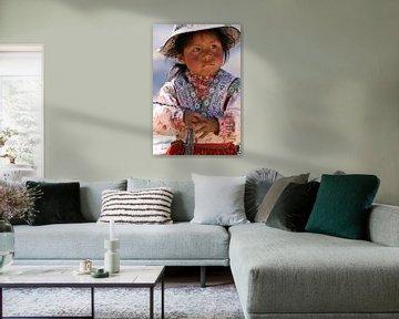 Peruanisches Mädchen von Gert-Jan Siesling