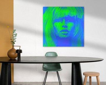 Brigitte Bardot NEON Light Blue Love Pop Art - 24 Colours - Game - IPAD von Felix von Altersheim
