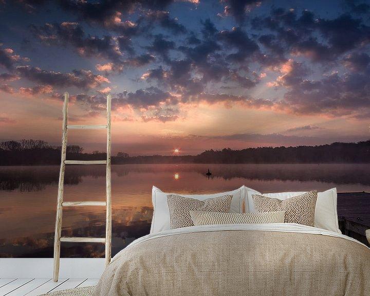Sfeerimpressie behang: Steiger bij zonsopkomst van Jurgen Cornelissen