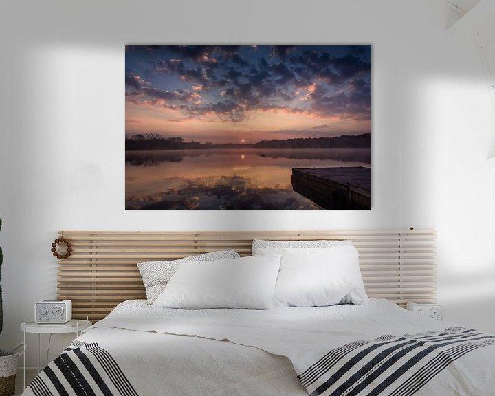 Sfeerimpressie: Steiger bij zonsopkomst van Jurgen Cornelissen