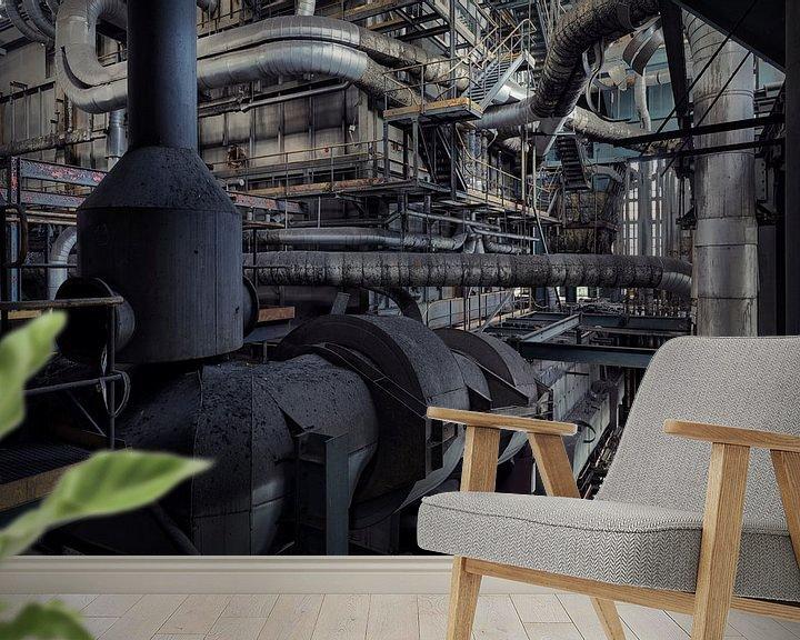 Sfeerimpressie behang: industrial planet  van Dieter Herreman