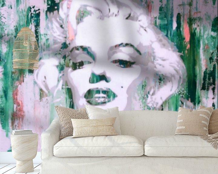 Beispiel fototapete: Marilyn Monroe Abstrakt Green Pop Art von Felix von Altersheim