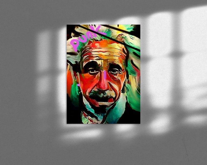 Sfeerimpressie: Albert Einstein PUNK Classic Pop Art PUR  van Felix von Altersheim