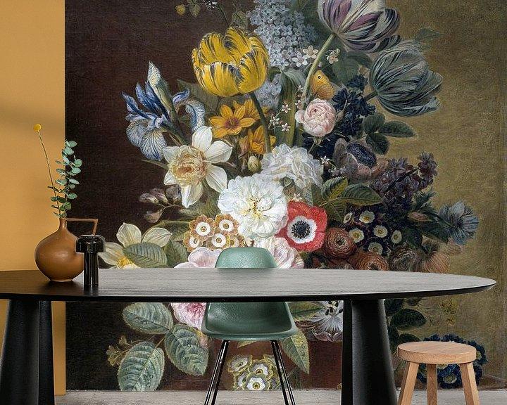 Sfeerimpressie behang: Stilleven met bloemen, Eelke Jelles Eelkema (gezien bij vtwonen)