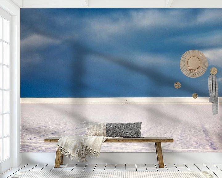 Sfeerimpressie behang: Landschap in blauw-wit van Jan Sportel Photography