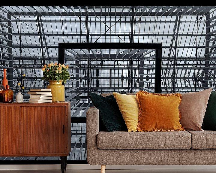 Sfeerimpressie behang: Symetrie van Wouter Kok
