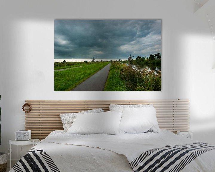 Sfeerimpressie: Kinderdijk Zuid Holland van Brian Morgan