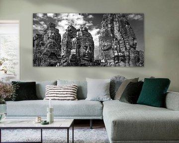 Angkor Thom, Bayon Temple van Maurits van Hout