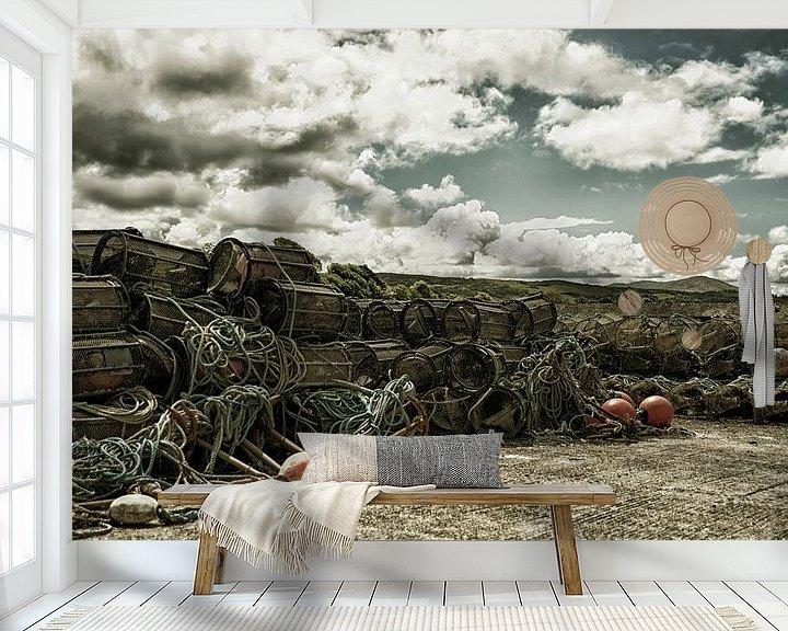 Sfeerimpressie behang: Fuiken op de kade van Wim Scholte