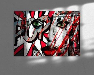 Naomi Campbell Collage Pop Art von Felix von Altersheim