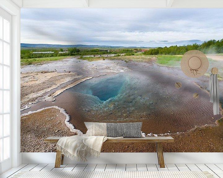 Sfeerimpressie behang: Blesi bij Geysir, IJsland van Joep de Groot