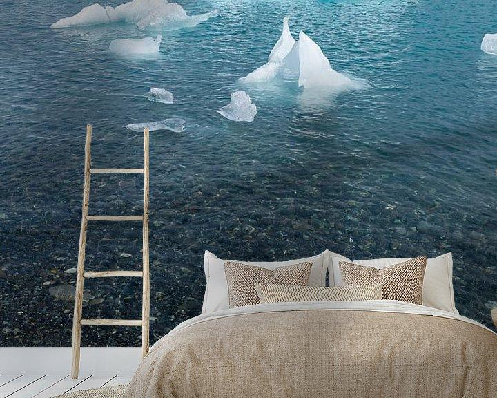 Sfeerimpressie behang: Jökulsárlón, IJsland van Joep de Groot